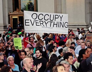 """Occupy EVerything"" sign"