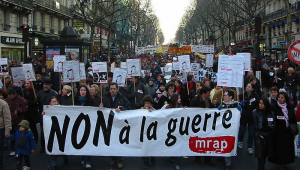 Anti-Iraq war protest in France