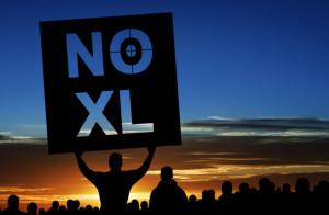 Keystone pipeline protestrs