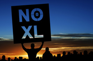 NI XL protest sign
