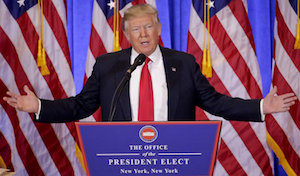 President-elect Donald Trump holds a press conference.